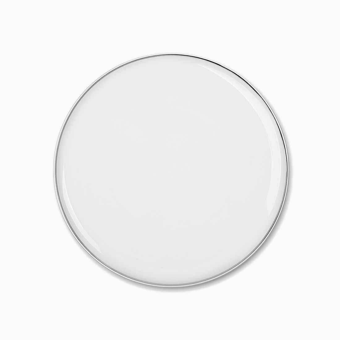 Pomona Plate White with platinum line 28 cm by Bodo Sperlein