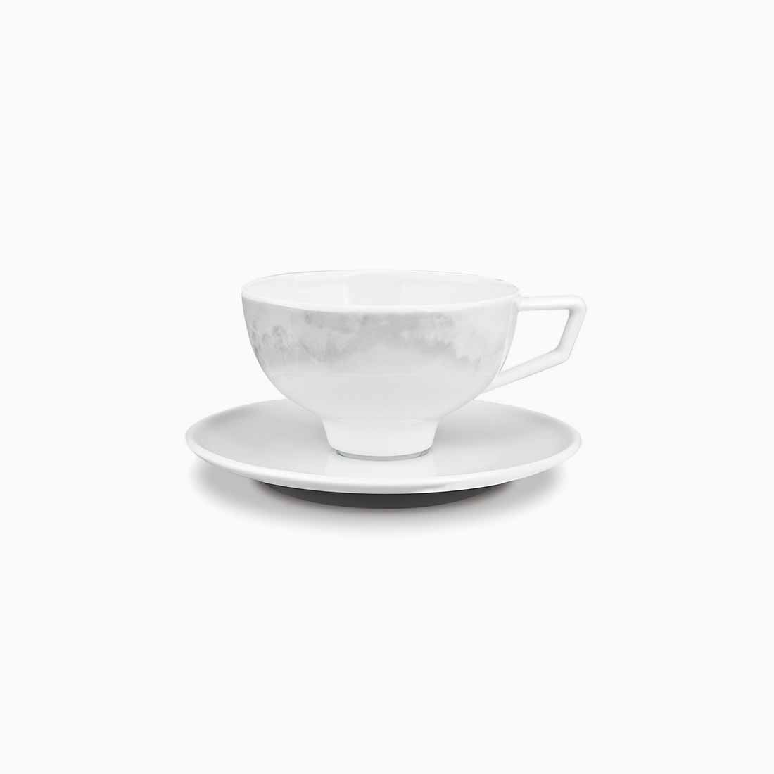 Pomona Espresso Cup and Saucer Grey Tempest by Bodo Sperlein