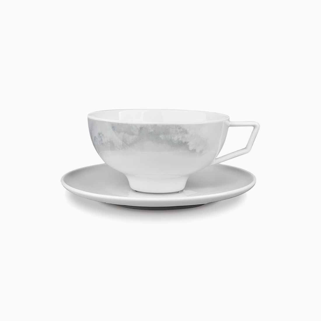 Pomona Teacup and Saucer Grey Tempest by Bodo Sperlein