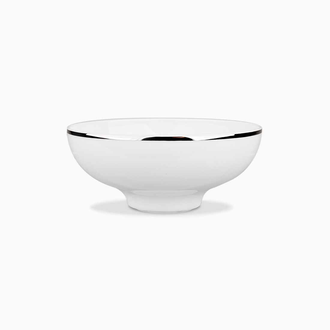 Pomona Bowl White with platinum line 14 cm by Bodo Sperlein