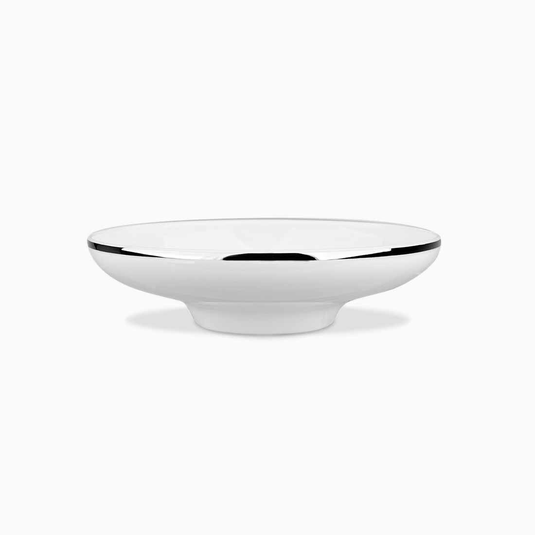 Pomona Bowl White with platinum line 18 cm by Bodo Sperlein