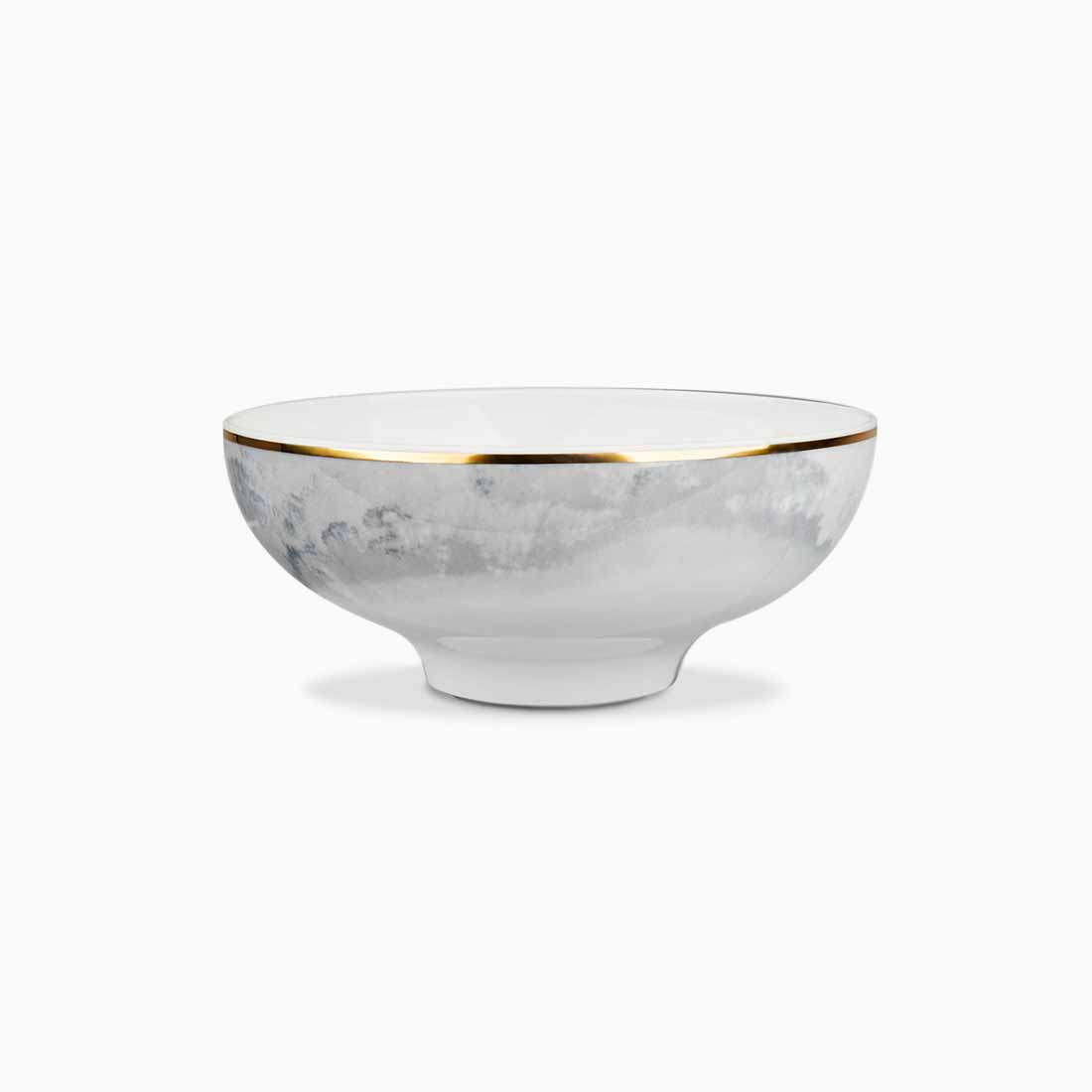 Pomona Bowl Grey Tempest with gold line 14 cm by Bodo Sperlein