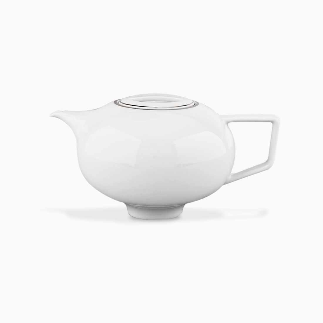Pomona Teapot White with platinum line by Bodo Sperlein