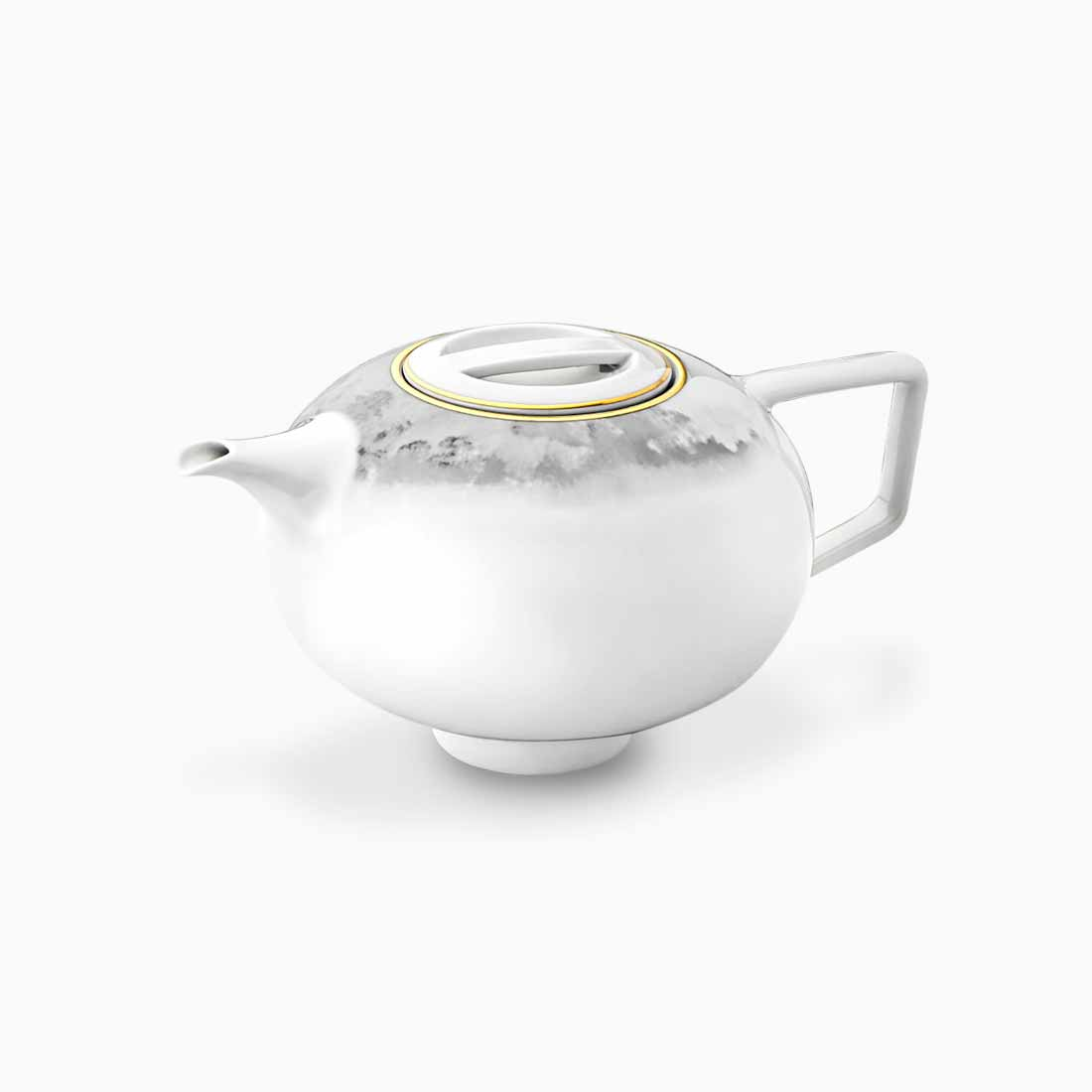 Pomona Teapot Grey Tempest with gold line by Bodo Sperlein